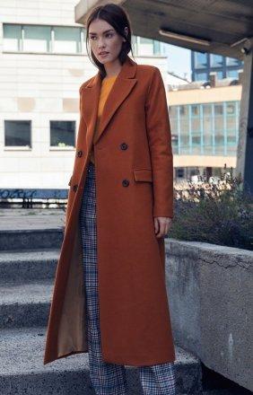 *Długi ciepły płaszcz Nife pl06