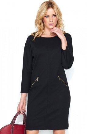 *Makadamia M451 sukienka czarna