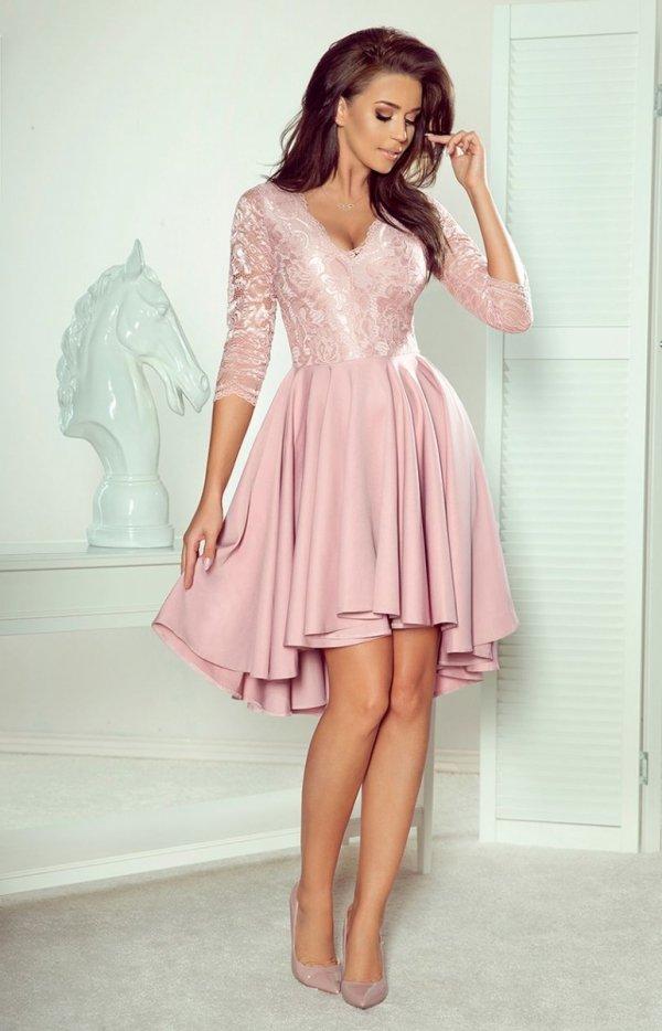 Pudrowa sukienka wieczorowa Numoco 210-11-1