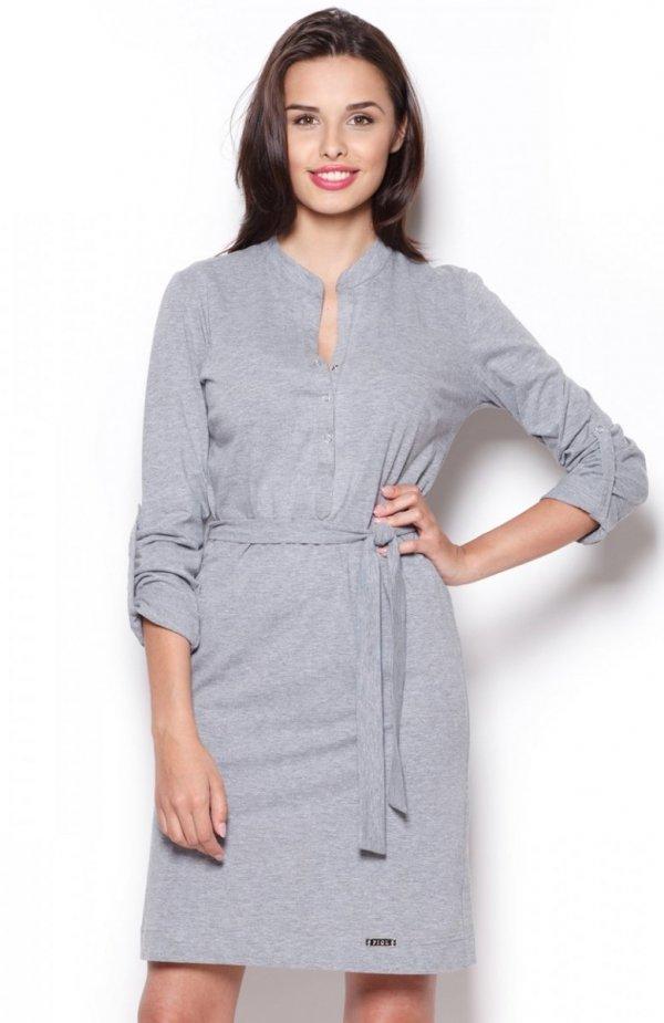 Figl M287 sukienka szara