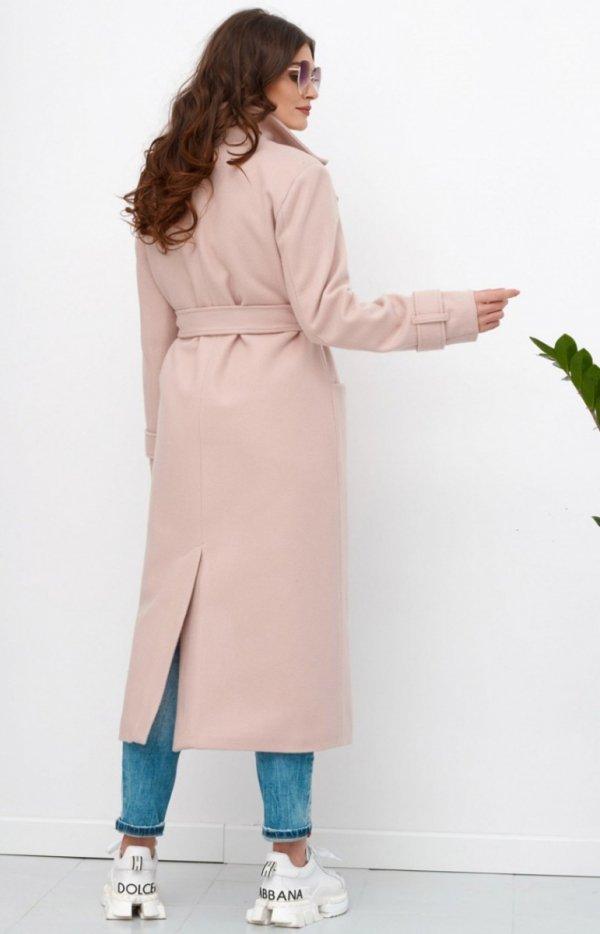 Długi płaszcz z wiązaniem 0017 tz