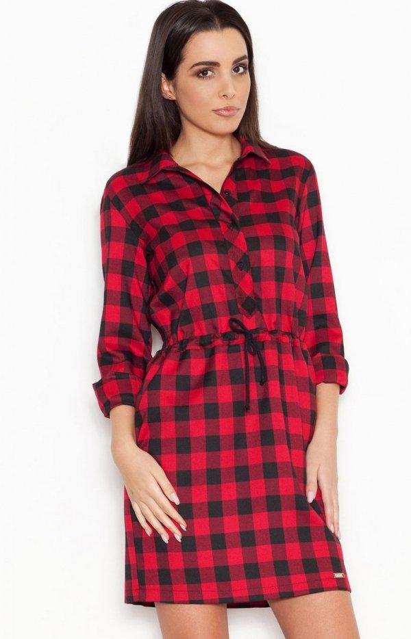 Katrus K256 sukienka czerwona