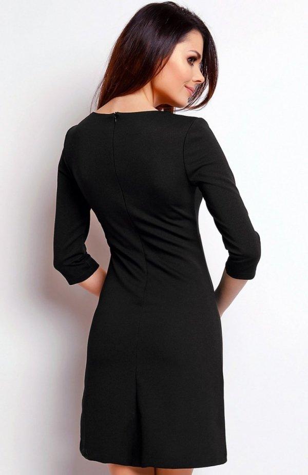 Nommo NA405 sukienka czarna tył