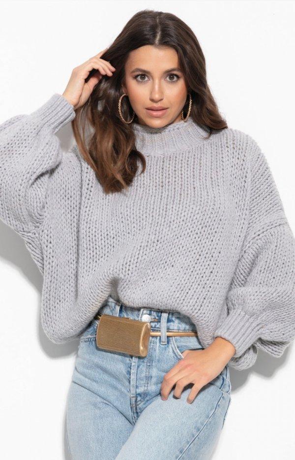 Oversizowy sweter z kaszmirem F1110-1