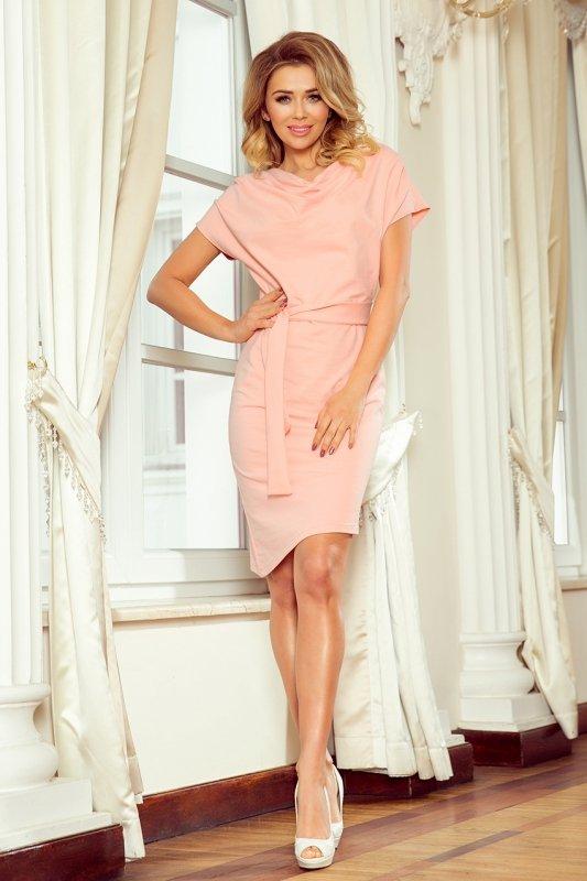Sukienka z wiązanym paskiem Roxi Numoco 240-3-1