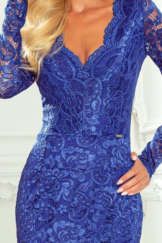 Koronkowa dopasowana sukiena Numoco 170-8