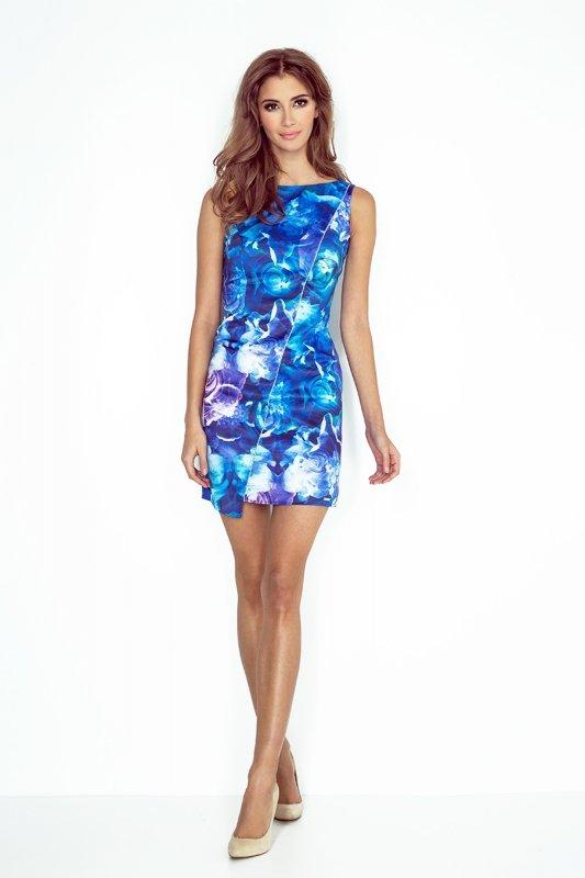 07629e55e4 Morimia 004-1 sukienka niebieskie kwiaty - Sukienki na wesele ...