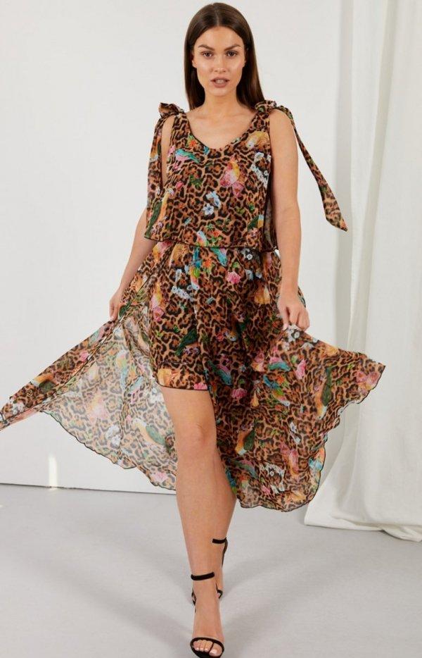 Asymetryczna sukienka maxi LG548/D13