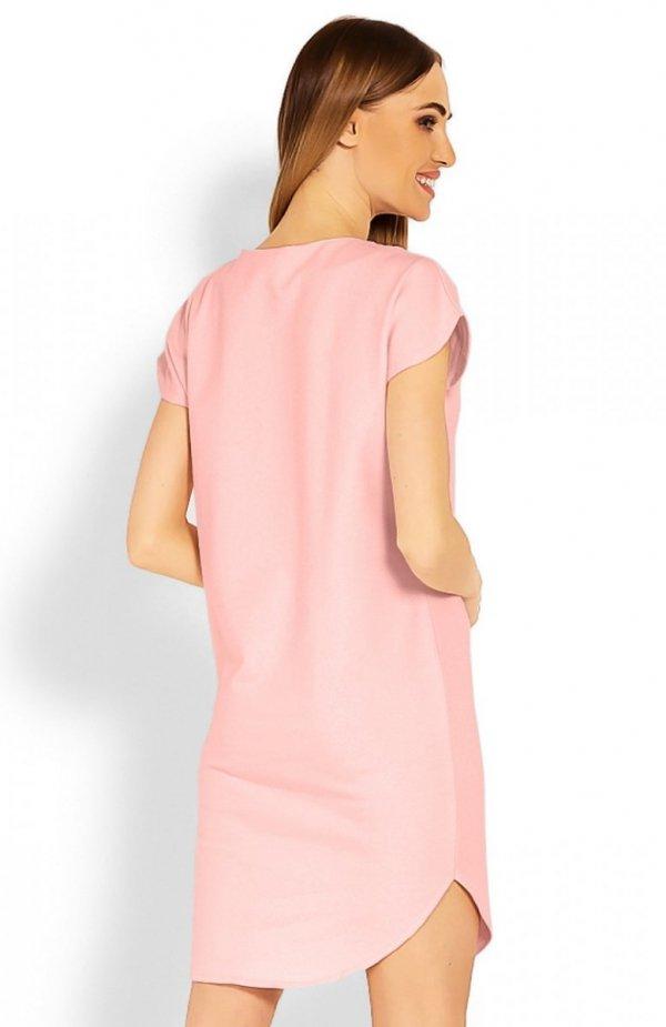 PeekaBoo 1629 sukienka pudrowy róż tył