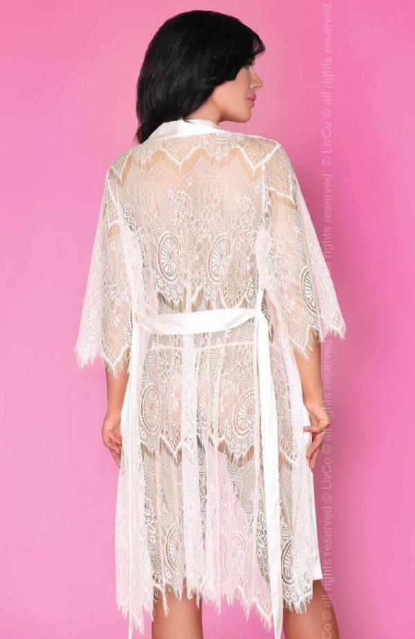 Livia Corsetti Reve Blanc szlafrok, koszulka i stringi tył