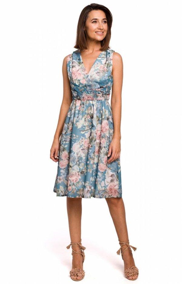 Letnia sukienka w kwiaty S225/4-1