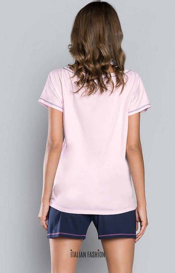 Italian Fashion Sen dwuczęściowa piżama damska tył