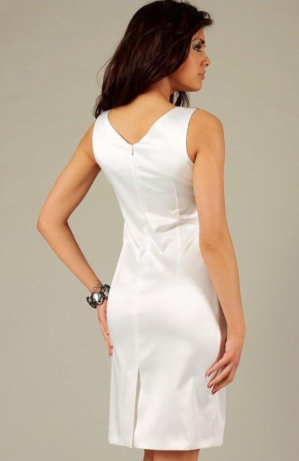 Vera Fashion Oriana sukienka kremowa z koronką
