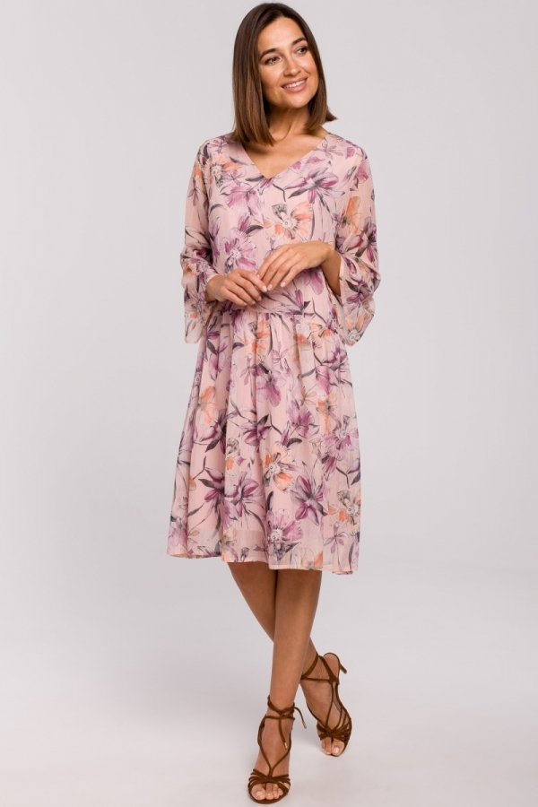 Oversizowa sukienka w kwiaty S214/2-1