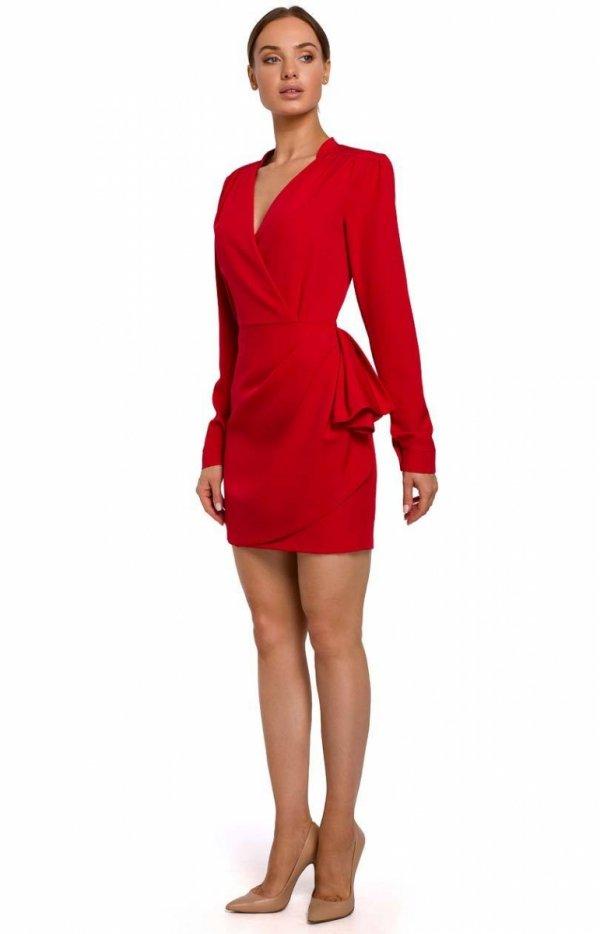 Elegancka mini sukienka z falbaną M531-1