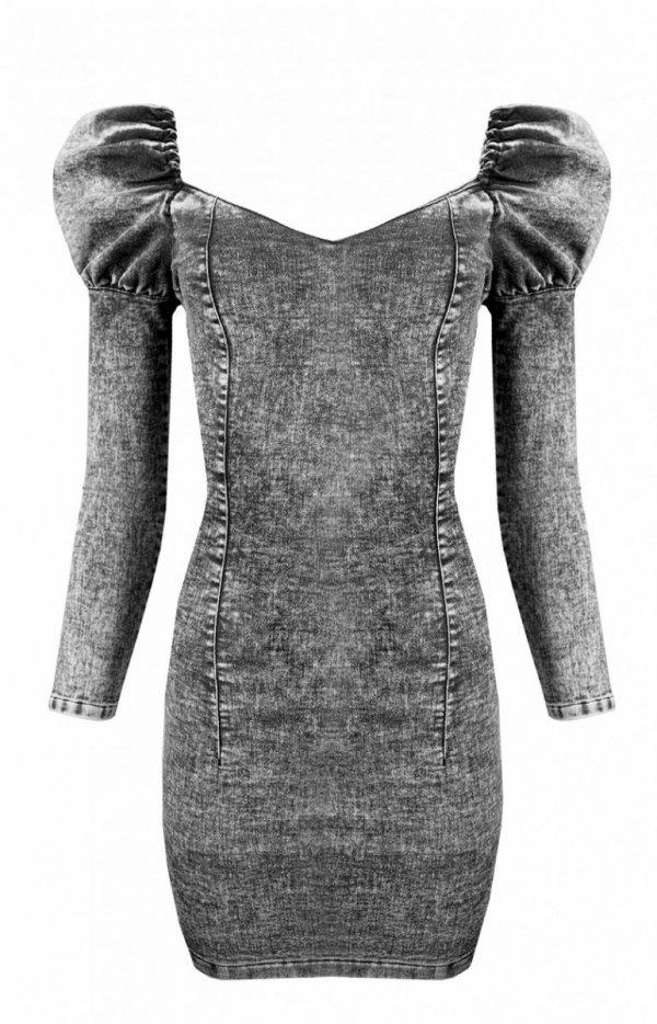 Sukienka ołówkowa denim black-2