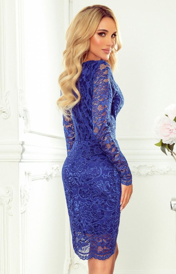 Koronkowa dopasowana sukiena Numoco 170-8 tył