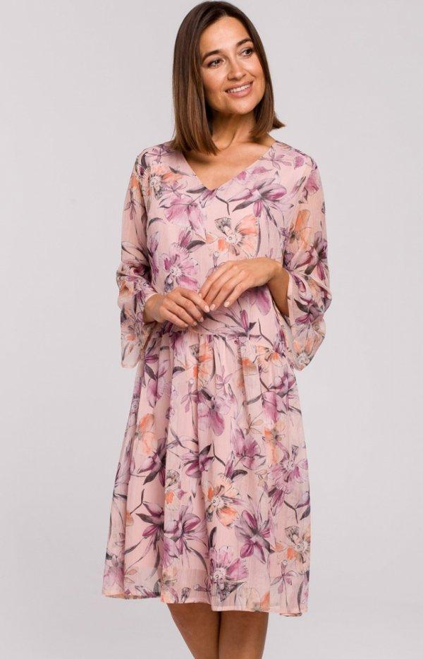 Oversizowa sukienka w kwiaty S214/2