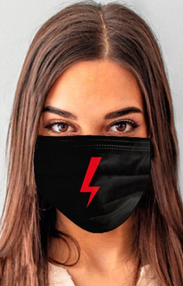 Maseczka ochronna strajk kobiet błyskawica