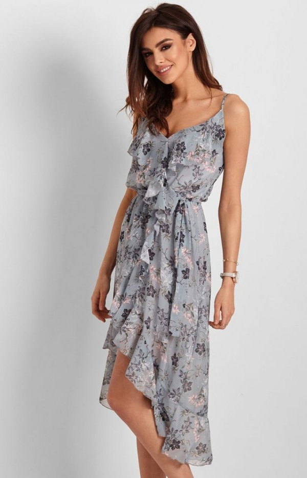 Letnia sukienka midi w kwiaty Chantal-1