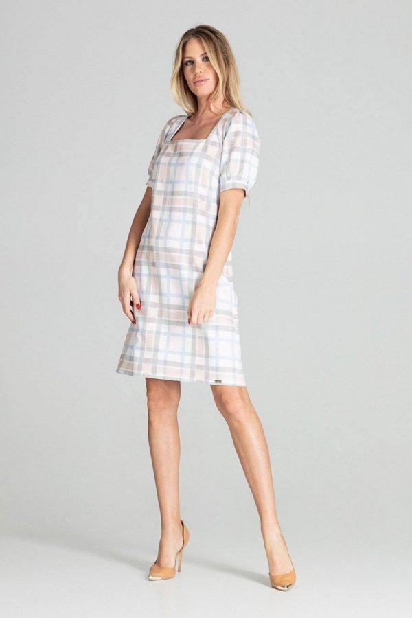 Sukienka w kratę Figl M704/111-2