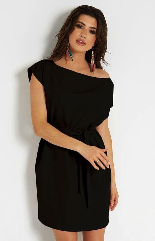 Wiązana sukienka Valencia czarna 297