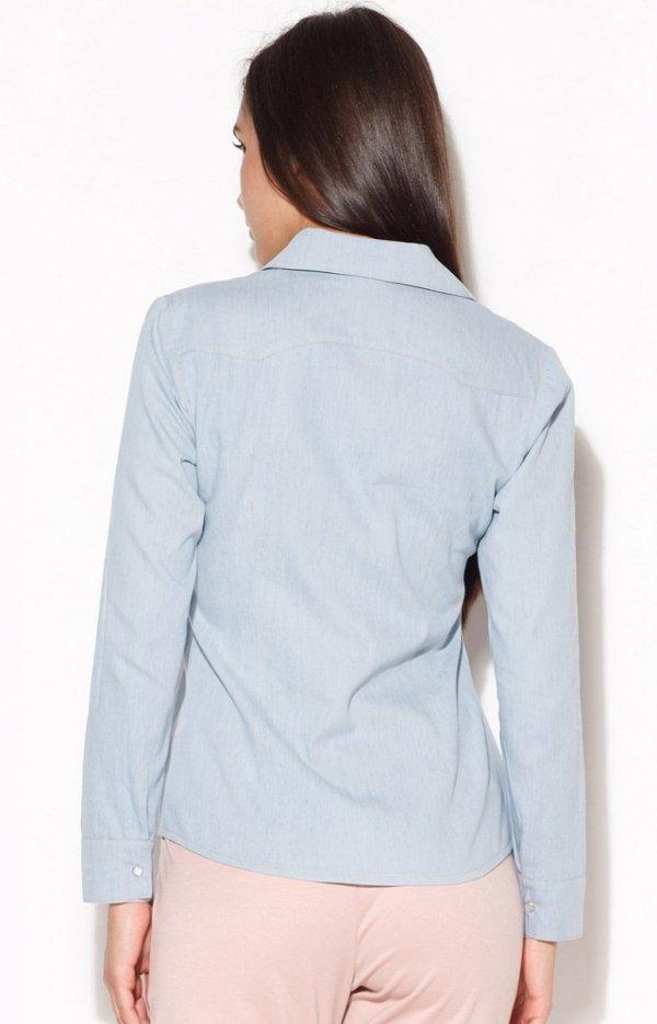Katrus K171 koszula jasnoniebieska