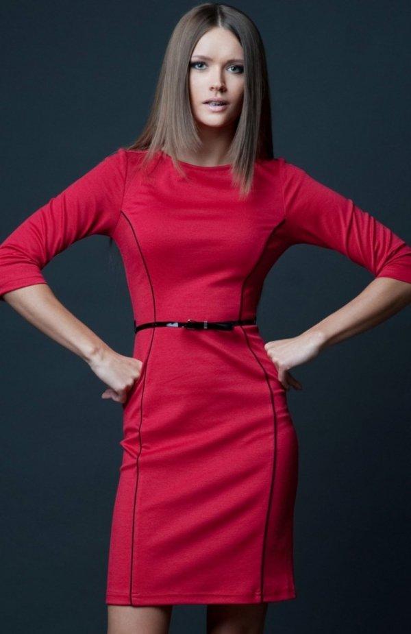 Vera Fashion Pola sukienka czerwona