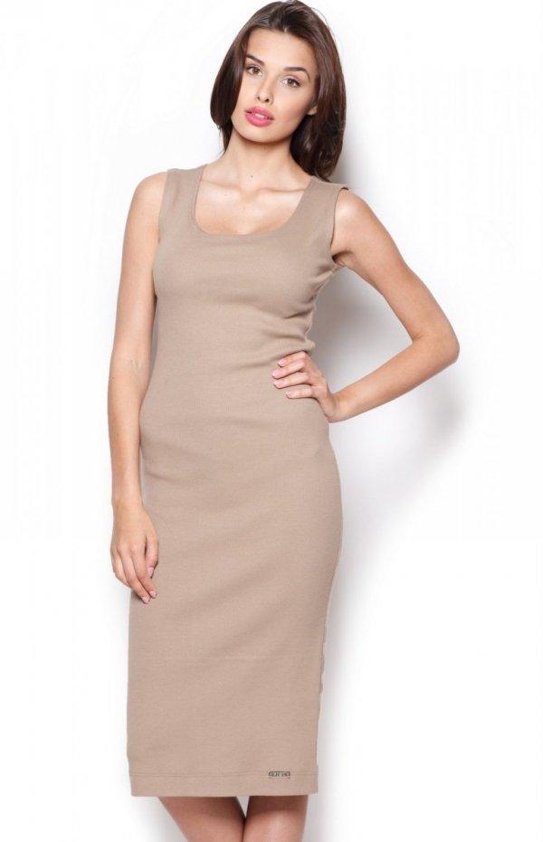 Figl M282 sukienka beżowa