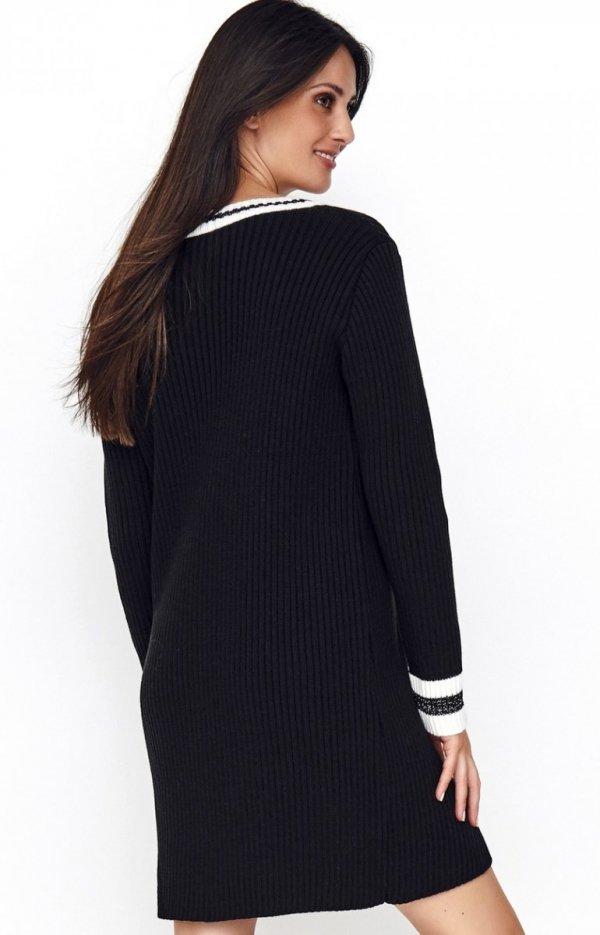 Sportowa sukienka czarna S69 tył