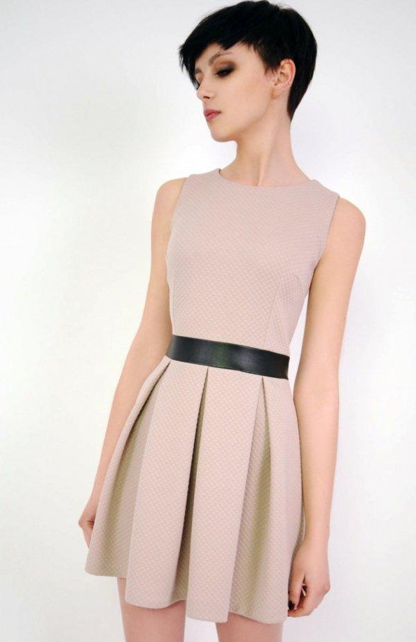 Vera Fashion Madelaine sukienka beż