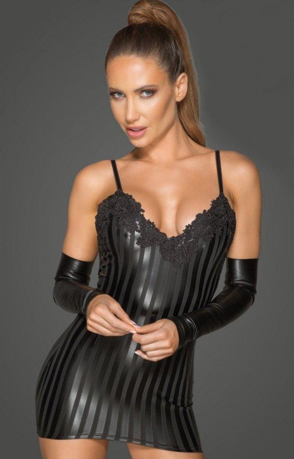 Erotyczna mini sukienka F208