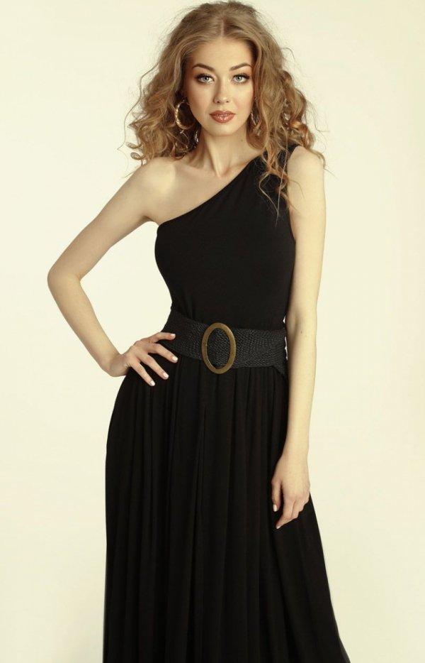 Długa sukienka na jedno ramię Erin zoom