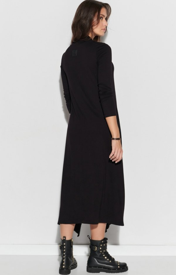 Asymetryczna maxi sukienka NU322 tył