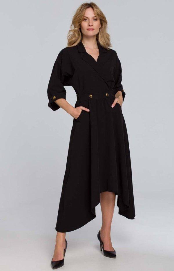 Asymetryczna długa sukienka K086