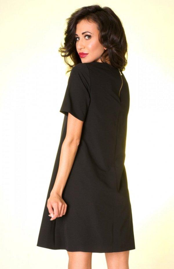 Ivon P17 sukienka czarna tył