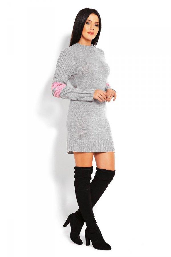 PeekaBoo 70011 tunika sweterkowa szara