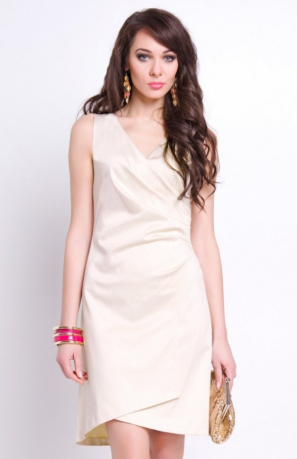 Vera Fashion Kamila sukienka beżowa