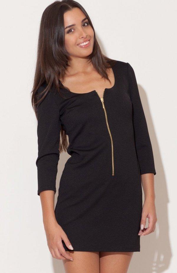 Katrus K104 sukienka czarna