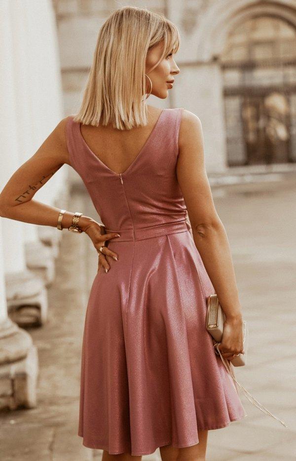 Elegancka błyszcząca sukienka 2215-20 tył