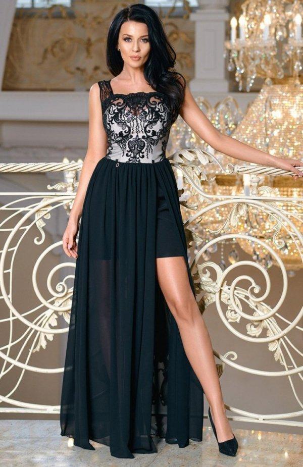 Bicotone 2171-06 sukienka maxi czarna