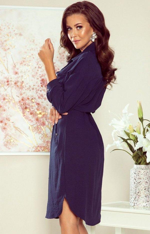 Koszulowa sukienka Numoco 258-3 Brooke tył