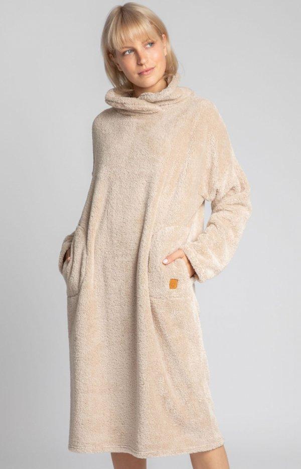 Lalupa ciepła pluszowa sukienka domowa