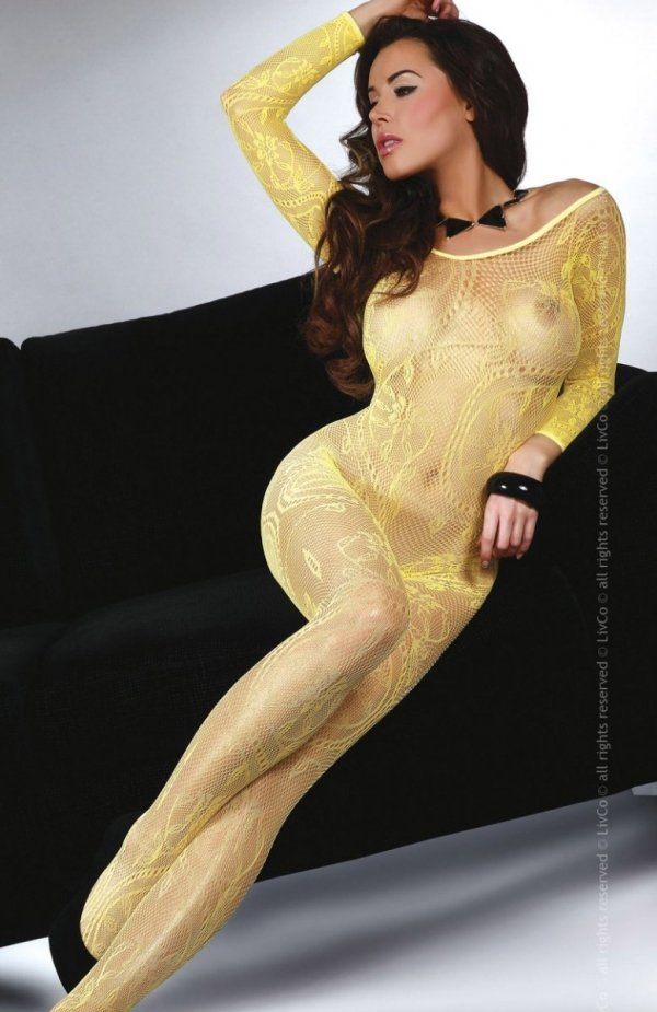 LivCo Corsetti Bodystocking Abra yellow