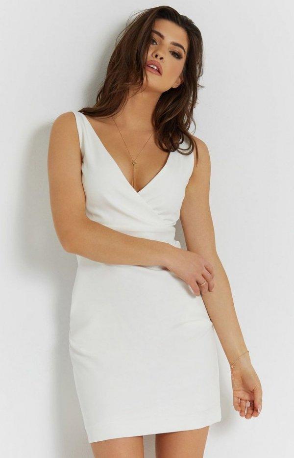 Seksowna śmietankowa sukienka Paola-1
