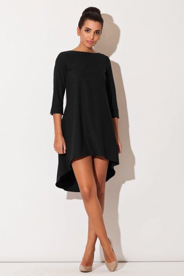 Katrus K141 sukienka czarna