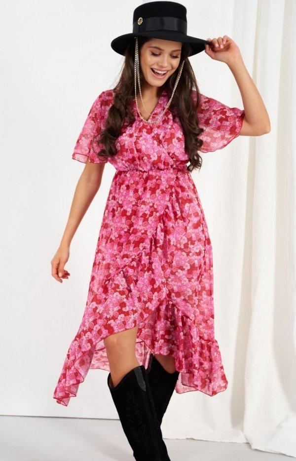 Zwiewna asymetryczna sukienka maxi LG523/D17