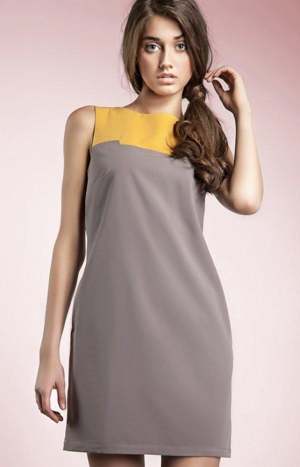 Nife s25 sukienka mocca