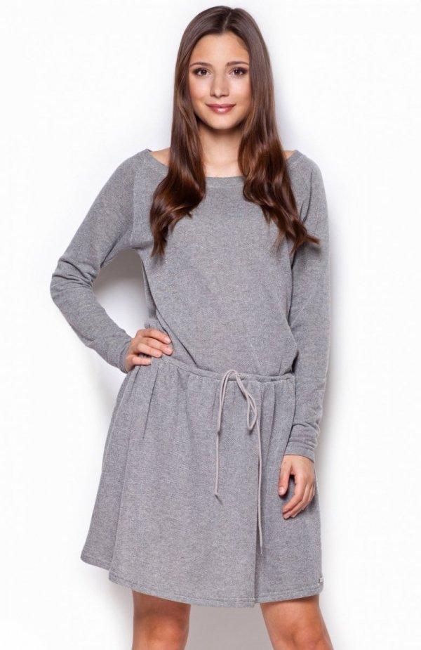 Figl M334 sukienka ciemny szary