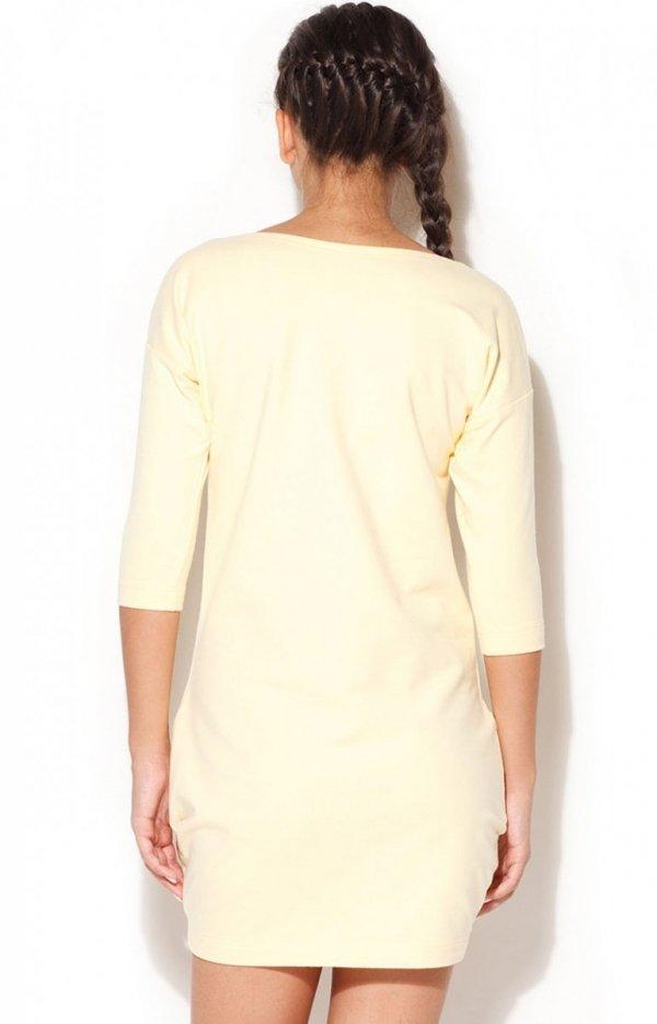 Katrus K181 sukienka żółta tył